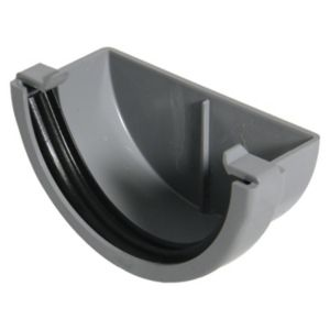 View Floplast Miniflo Gutter Stop End (Dia)76 mm, Grey details