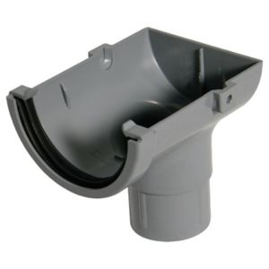 View Floplast Grey PVCu Stop End Outlet (Dia)76mm details
