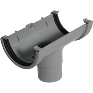 View Floplast Grey PVCu Running Outlet (Dia)76mm details