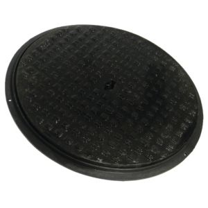 View Floplast Black Round Screw Down Cover (Dia)450mm details