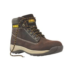 View DeWalt Apprentice Brown Steel Toe Cap Full Grain Nubuck Leather Upper Boots, Size 11 details