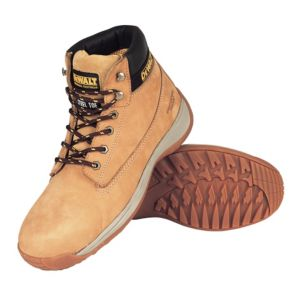 View DeWalt Apprentice Wheat Waterproof Steel Toe Cap Full Grain Nubuck Leather Upper Boots, Size 3 details