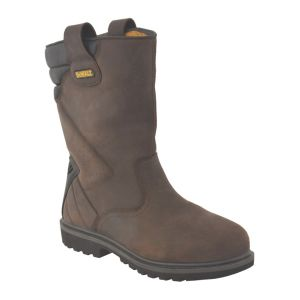 View DeWalt Brown Steel Toe Cap Leather Upper Rigger Boots, Size 11 details