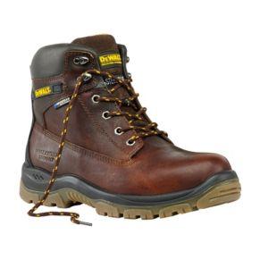 Image of DeWalt Titanium Tan Full Grain Leather Steel Toe Cap Boots Size 10