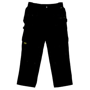 View DeWalt Pro Black Nylon Work Trousers W38
