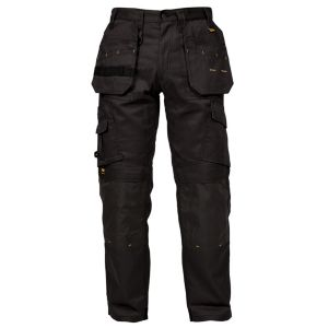 View DeWalt Pro Tradesman Black Nylon Work Trousers W32