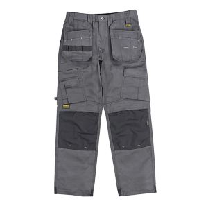 "DeWalt Pro Tradesman Grey Trousers W36"" L33"""