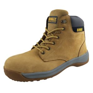 Image of DeWalt Wheat Full Grain Leather Steel Toe Cap Builder Boots Size 9
