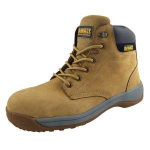 Image of DeWalt Wheat Full Grain Leather Steel Toe Cap Builder Boots Size 10