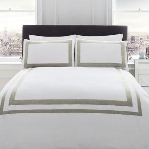 Image of Racing Green Signature Norada Border stripe White King size Bed set