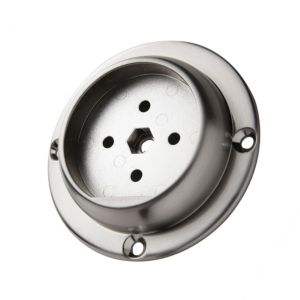Image of Axxys® Brushed nickel Wall connector (H)90mm (W)90mm
