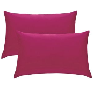 Chartwell Plain Housewife Hot Pink Pillow Case  Pack of 2