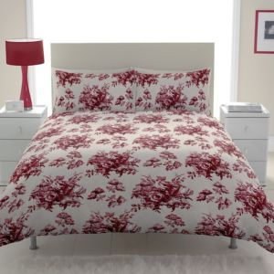 View Chartwell Toile Red Floral Kingsize Bed Cover Set details