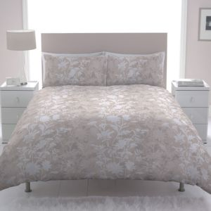 View Chartwell Caitlin Beige & White Floral Double Bed Cover Set details