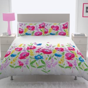 View Chartwell Mika Fuchsia Floral Kingsize Bed Cover Set details