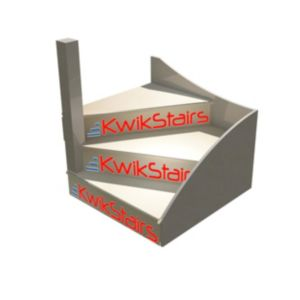 Image of kWikstairs Left-Hand Winder Staircase Pack (W)900mm