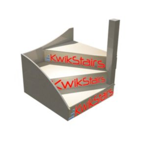 Image of kWikstairs Right-Hand Winder Staircase Pack (W)900mm