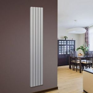 Opague Vertical Radiator Silver (H)1800 mm (W)345 mm