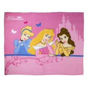 View Disney Blue, Pink & Yellow Disney Princess Fleece Blanket details