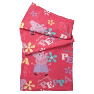 View Pink & Purple Peppa Pig Fleece Blanket details