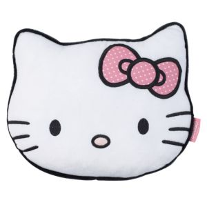 View Hello Kitty Head Pink & White Cushion details