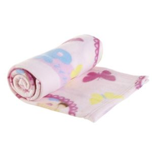 View Pink, Yellow & Blue Princess Fleece Blanket details