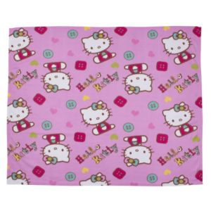 View Hello Kitty Pink & White Fleece Blanket details
