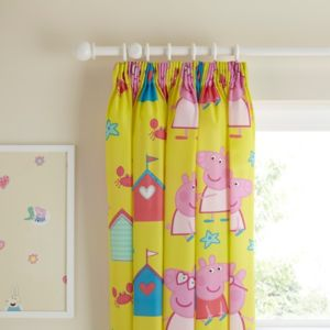 View Peppa Pig Multicolour Character Pencil Pleat Children's Curtains (W)167.6cm (L)137.2cm details