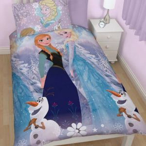 View Disney Frozen Blue & Purple Anna & Elsa Single Bed Cover Set details