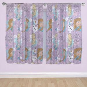 Image of Frozen Purple Pencil Pleat Children's Curtains (W)167 cm (L)137 cm