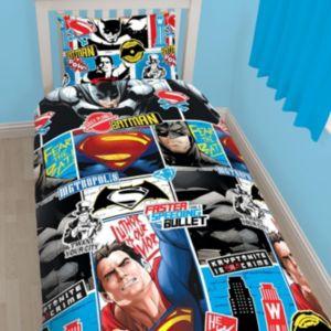 Image of DC comics Batman v Superman Reversible Multicolour Single Duvet set