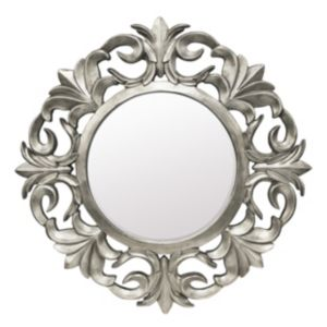 View Colours Ashton Pewter Effect Round Mirror details