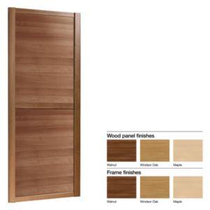 Made to Measure Shaker 2 Panel Wood Effect Sliding Wardrobe Door (W)550740mm