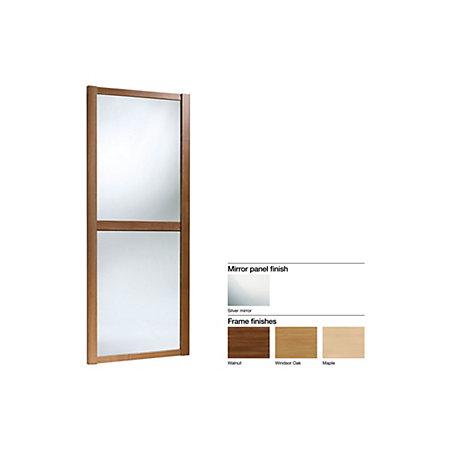 Made To Measure Shaker 2 Panel Mirror Sliding Wardrobe Door W 741