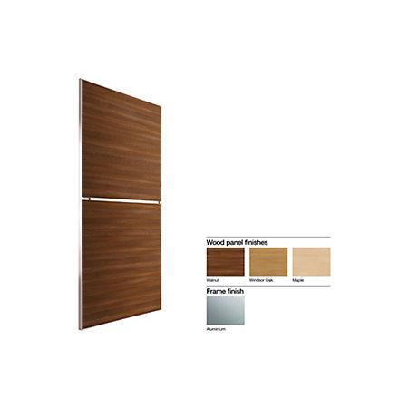 Made To Measure Minimalist 2 Panel Wood Effect Sliding Wardrobe Door