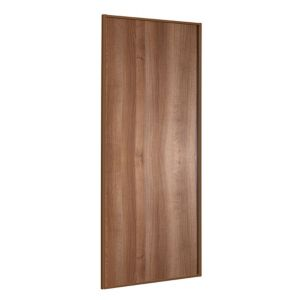 View Classic Walnut Effect Panel Sliding Wardrobe Door (H)2.22 M (W)762 mm details