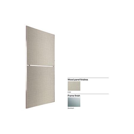 Made To Measure Minimalist 2 Panel Linen Effect Sliding Wardrobe Door