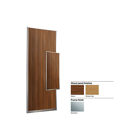 Made To Measure Double Sided 1 Panel Wood Effect Sliding Wardrobe Door
