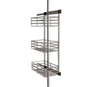 Image of Aura Metallic effect Basket rack (W)460mm (D) 460mm