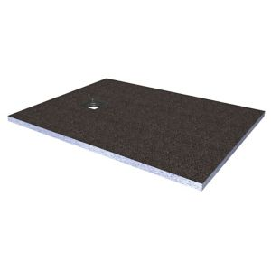 View Aquadry Flat Wetroom Tray Former with End Drain (H)30mm (W)1.2m (L)900mm details