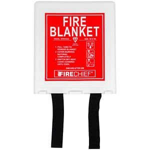 Image of Firechief ABC 1kg Fire Extinguisher with Fire Blanket & First Aid Kit