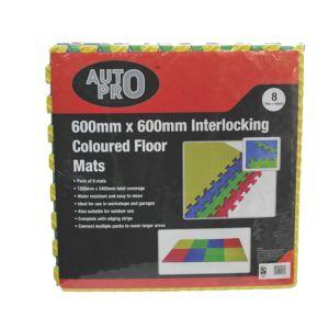 Image of AutoPro accessories Car Care & Maintenance EVA foam Floor Mat Pack of 8