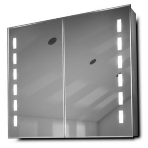 Diamond x Collection Cacia Demister Bathroom Rectangular Mirror Cabinet (W)800mm (H)700mm