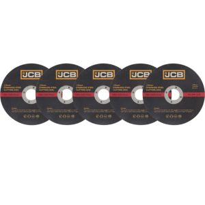 View JCB (Dia)125mm Stainless Steel Cutting Disc, Pack of 5 details