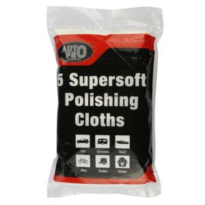 Image of AutoPro accessories Cotton Polishing cloth Pack of 5