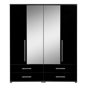 View Perla Oak Effect 4 Door 4 Drawer Wardrobe details