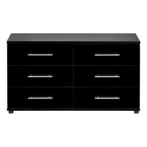 View Perla Black 6 Drawer Chest (H) 662 mm (W) 1.204 M details