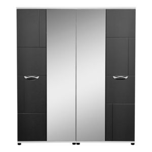 View Torus Black 4 Door Wardrobe (H) 1.879 M (W) 1.604 M details