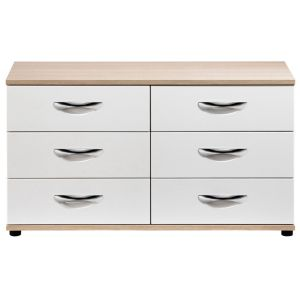 View Torus White 6 Drawer Chest (H) 662 mm (W) 1.204 M details