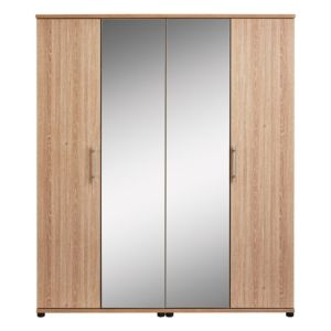 View Vermont Oak Effect 4 Door Wardrobe details